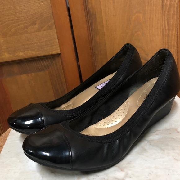 3b97131678 dexflex Shoes | Comfort Black 85w Black Wide Width Wedge | Poshmark